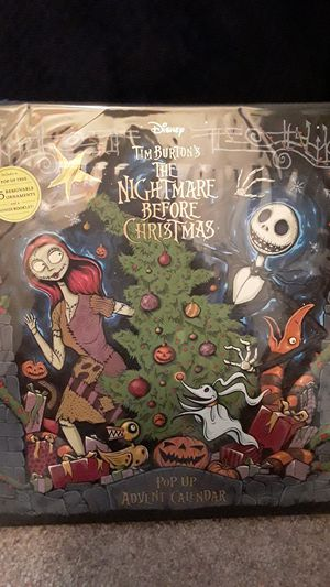Disney Tim Burton's the nightmare before Christmas pop-up advent calendar for Sale in San Dimas, CA