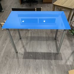 Blue Glass Desk Table for Sale in Los Angeles,  CA