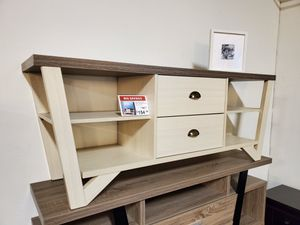 Grace TV Stand up 70in TV Stands, Ivory & Dark Taupe for Sale in Garden Grove, CA