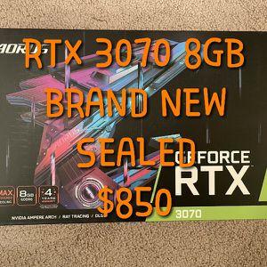 GIGABYTE AORUS RTX 3070 8GB, BRAND NEW & SEALED for Sale in Moreno Valley, CA