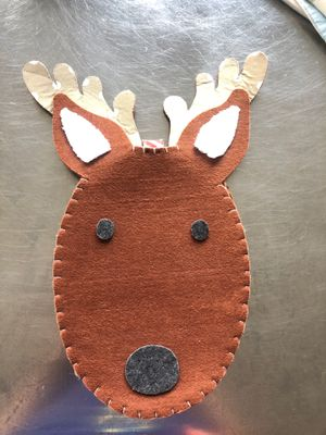 Pottery barn kids Christmas Reindeer chair backer for Sale in Portland, OR