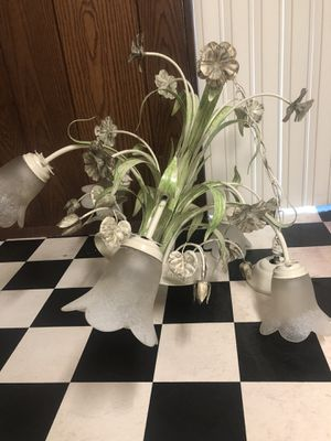 Vintage Floral Light Fixture Lamp for Sale in Baltimore, MD