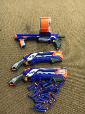 3 Nerf guns and 50 bullets for Sale in Basking Ridge, NJ