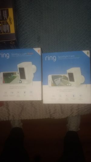 Ring spot light cameras. HD video and audio!!!! Plus spotlight for Sale in Portland, OR