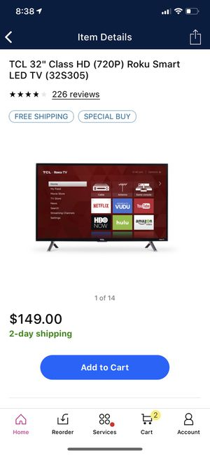 "TCL ROKU SMART TV 32"" for Sale in Fort Wayne, IN"