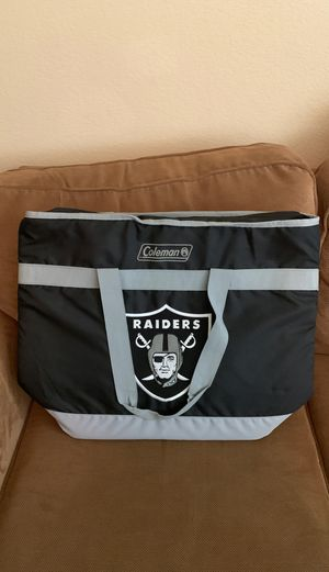 Oakland Raiders Coleman heavy duty hot or cold cooler bag for Sale in Elk Grove, CA