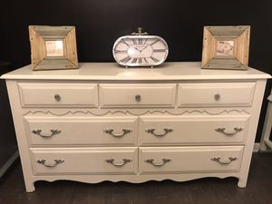 Solid wood white dresser for Sale in Fuquay-Varina, NC