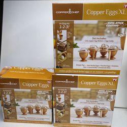Copper Chef Copper Eggs XL Non Stick Coating 4 XL Copper Easy Egg Makers for Sale in Boring,  OR