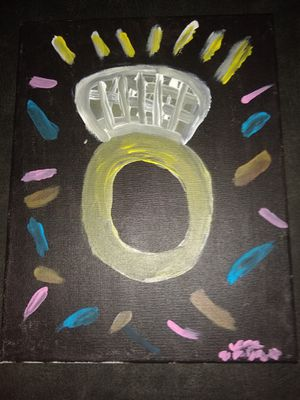 Wedding ring painting for Sale in Spartanburg, SC