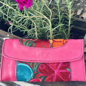 Beautiful Pink Wallet Handmade by Artisans Cartera Artesanal for Sale in Grand Prairie, TX