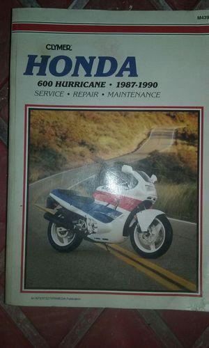 Honda motorcycle manual for Sale in Saint Joseph, MO
