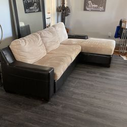 Beige suede Sleeper Sectional for Sale in San Diego,  CA