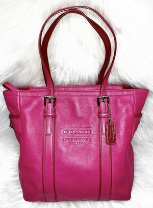Authentic Coach Pink Leather Tote Purse for Sale in Chandler, AZ
