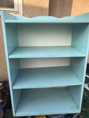 Cute teal & white shelf for Sale in Fresno, CA