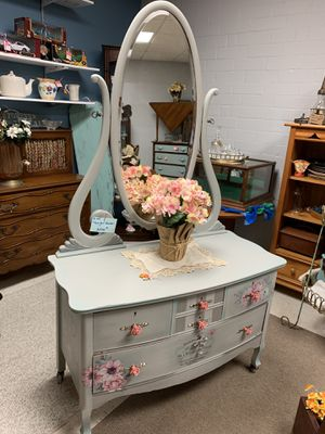 Beautiful antique low dresser for Sale in Fayetteville, NC