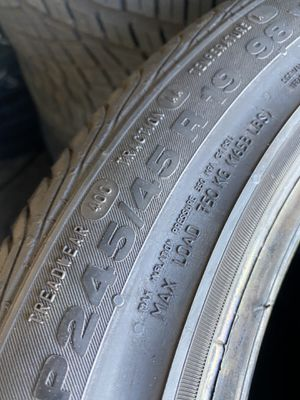 245/45/19 Continental (2 Tires) $100.00/ Both for Sale in Laguna Hills, CA