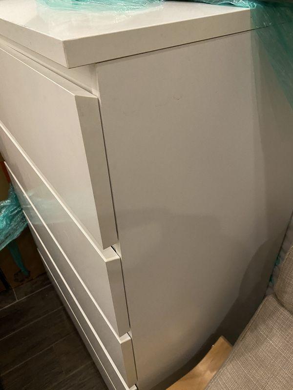 Malm white dresser chest ikea