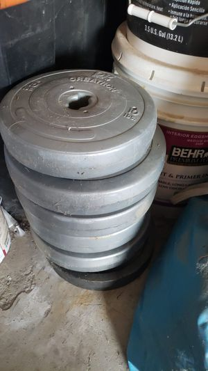 6cWeight and 1 weight bar for Sale in Moreno Valley, CA