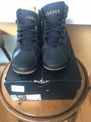 Air Jordan 7 RETRO (GS) Black Gold Sneakers Size 6.5 for Sale in East Windsor, NJ