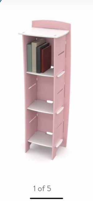 Kids Bookcase Pink and White 48 inch x 16 inch x 12 inch for Sale in Parker, CO