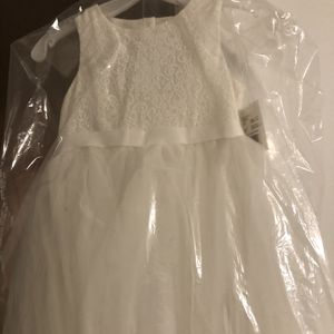 Brand New Flower Girl Dress Soft white Size 7- Tags Still On, Never Unwrapped for Sale in Huntington Beach, CA