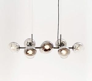 STAGGERED GLASS 8 light CHANDELIER - metallic ombré for Sale in Novato, CA