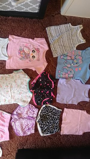 2T & 3T girls clothing plus high chair cover/shopping cart cover, pictures frames, more clothes, learning chair. for Sale in Riverview, FL