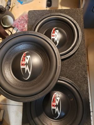 """3 ROCKFORD FOSGATE HX2 SUBWOOFERS 12""""INCH DUAL 4 OHM for Sale in Ontario, CA"""