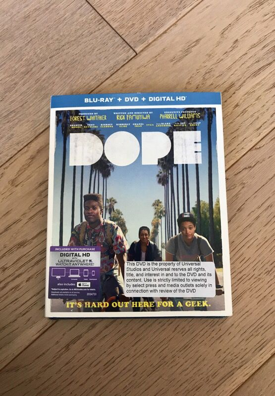 Dope blu-ray and DVD
