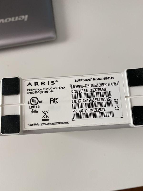 Arris SB 6141 Comcast Modem