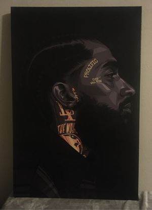 Nipsey Hussle canvas painting for Sale in Houston, TX