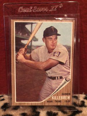 1962 Topps Harmon Killebrew Minnesota Twins #70 Baseball Card for Sale in Beverly Hills, CA