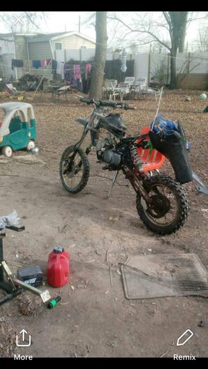 PIT BIKE frame with wheels for Sale in College Park, MD