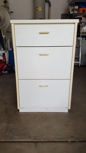 STURDY WHITE CABINET for Sale in Escondido, CA