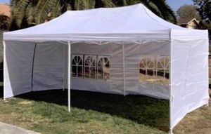 10x20ft Pop Up Canopy Tent/ Carpa para fiestas/ Party Tent/ sun rain cover for Sale in Chino, CA