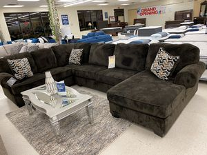 Brand new brown fabric sectional sofa for Sale in Dallas, TX