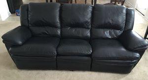 Black leather 7 piece living room set for Sale in Ashburn, VA