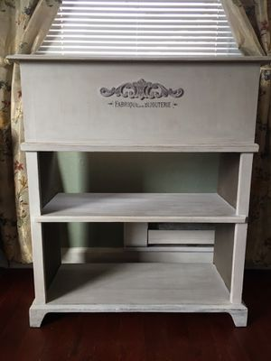 Shelves Storage Home Decor Shabby Furniture Script Chalk Painted for Sale in University Place, WA