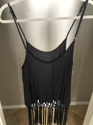 Sheer black top with hanging fringe for Sale in Lemon Grove, CA