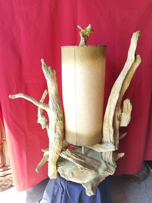 3ft Antique grape driftwood lamp for Sale in Pomona, CA