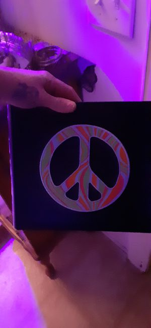 Peace sign photo album holds approximately 600 photos for Sale in Houston, TX