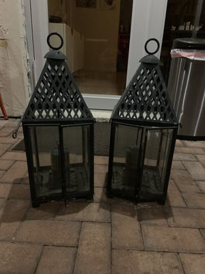 Frontgate candle holders for Sale in Boca Raton, FL