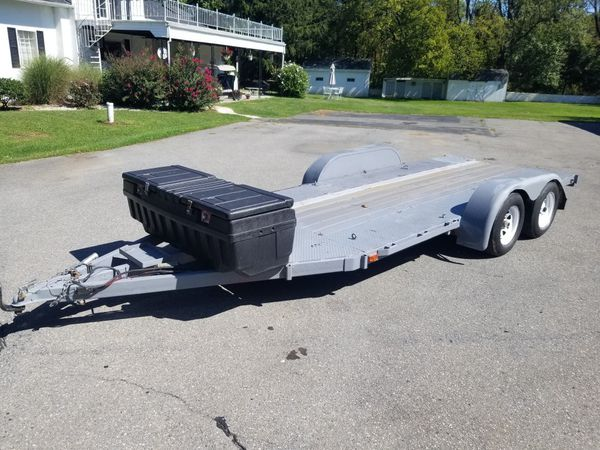 16x6 flatbed/car hauler trailer