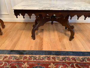 Three handicraft gorgeous marble top table for 450 for Sale in Alexandria, VA