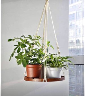 Plant Hanger - Indoor Hanging Planter Shelf - Decorative Flower Pot Holder - Boho Bohemian Home Deco for Sale in Orlando, FL