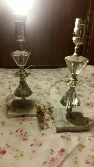 Crystal table lamps from Italy for Sale in Wichita, KS