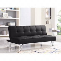 Serta Chelsea 3-Seat Multi-function Upholstery Fabric Sofa, Black for Sale in Springfield,  TN