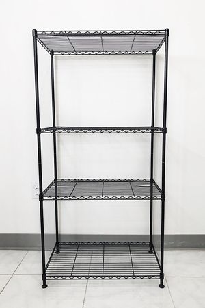 """(NEW) $35 Small Metal 4-Shelf Shelving Storage Unit Wire Organizer Rack Adjustable Height 24x14x48"""" for Sale in Whittier, CA"""