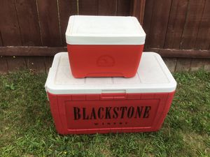 Two coolers one big one small for Sale in East Hartford, CT