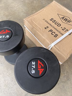 New GP commercial grade urethane dumbbells $2 per pound for Sale in Rowland Heights, CA